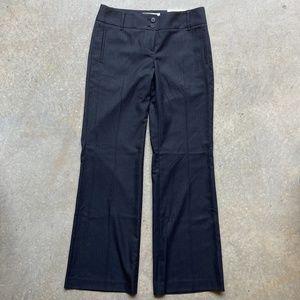 Loft Marisa Modern Dress Pants Navy Pinstripe 4